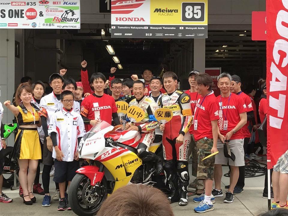 2017年8耐201周29位で完走!Honda QCT Meiwa Racing