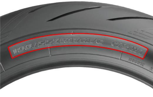 バイクのタイヤ表記の意味
