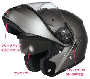 SHOEIシステムヘルメット