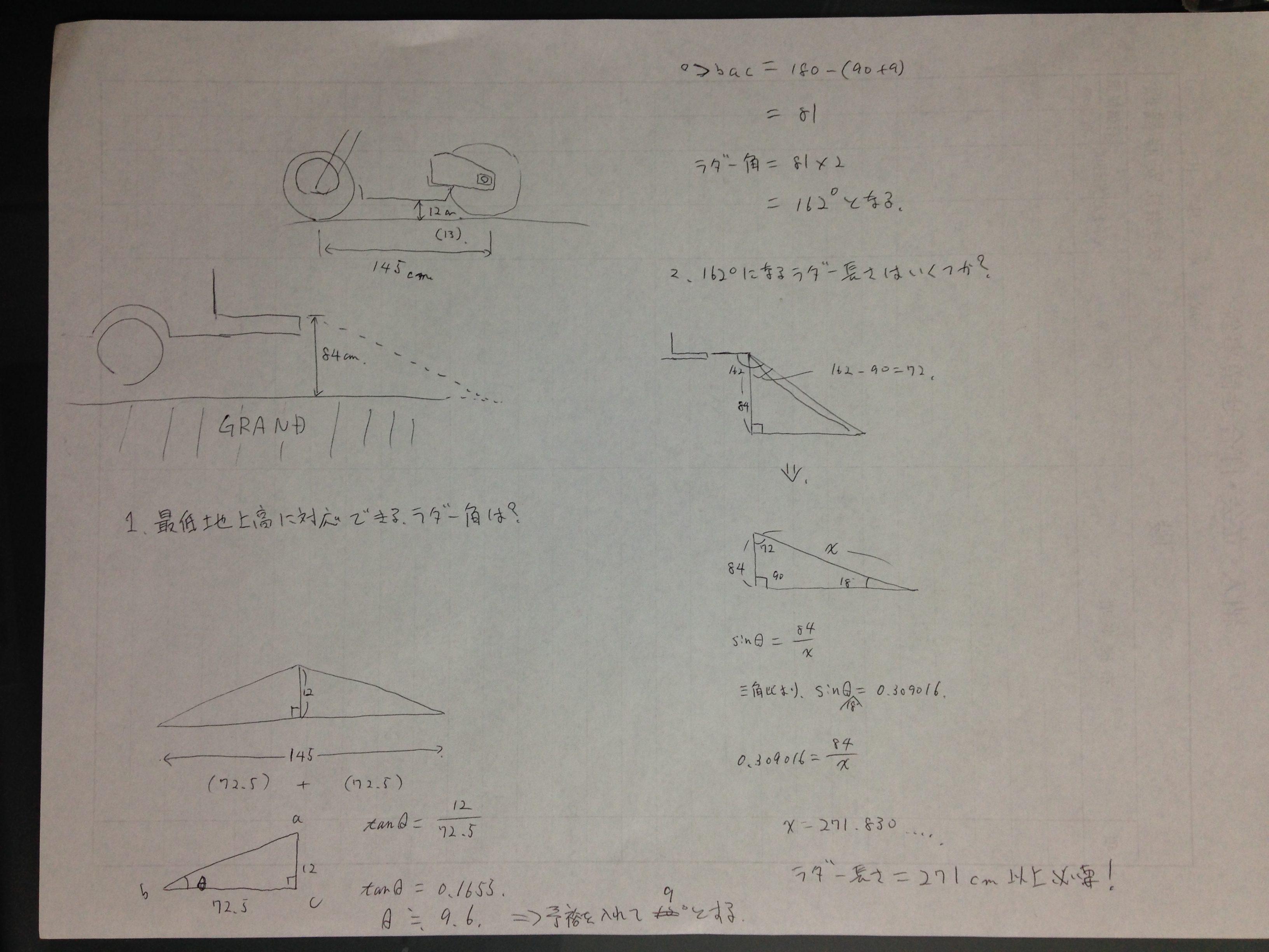 ラダーレール長さの計算式