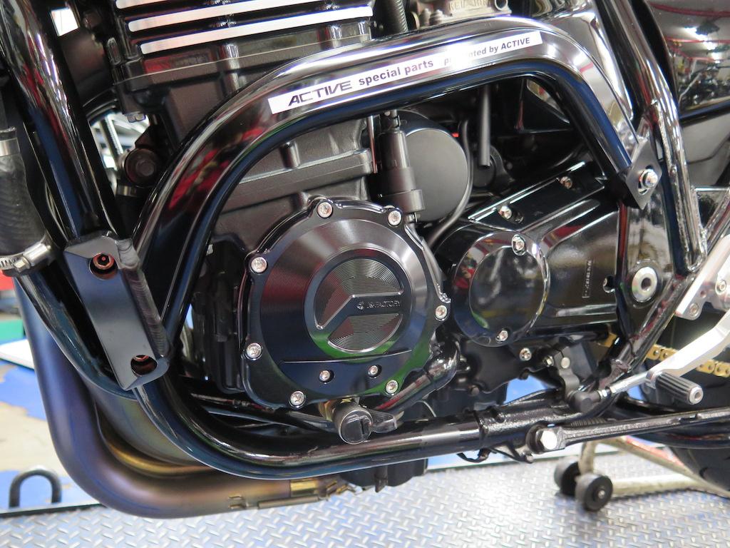 ZRX1200RエンジンパルシングカバーをK-Factory製に交換したカスタム記録