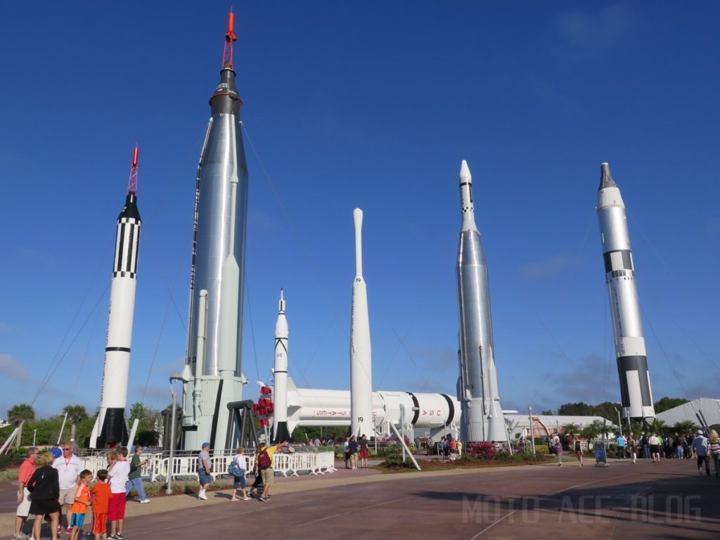 ケネディ宇宙センターのロケットガーデン