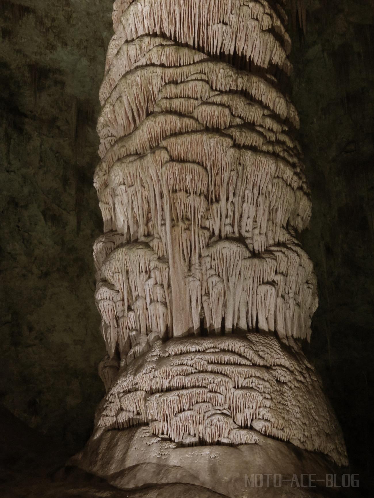 カールズバッド洞窟群の鍾乳石