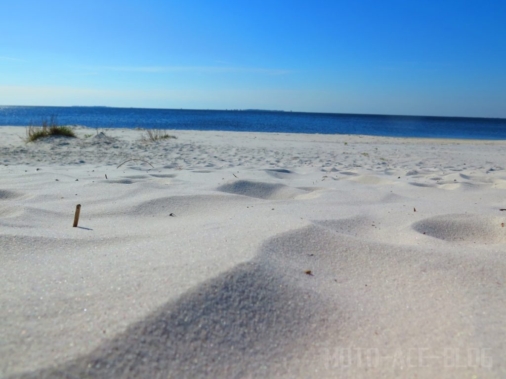 ガルフパークビーチの砂