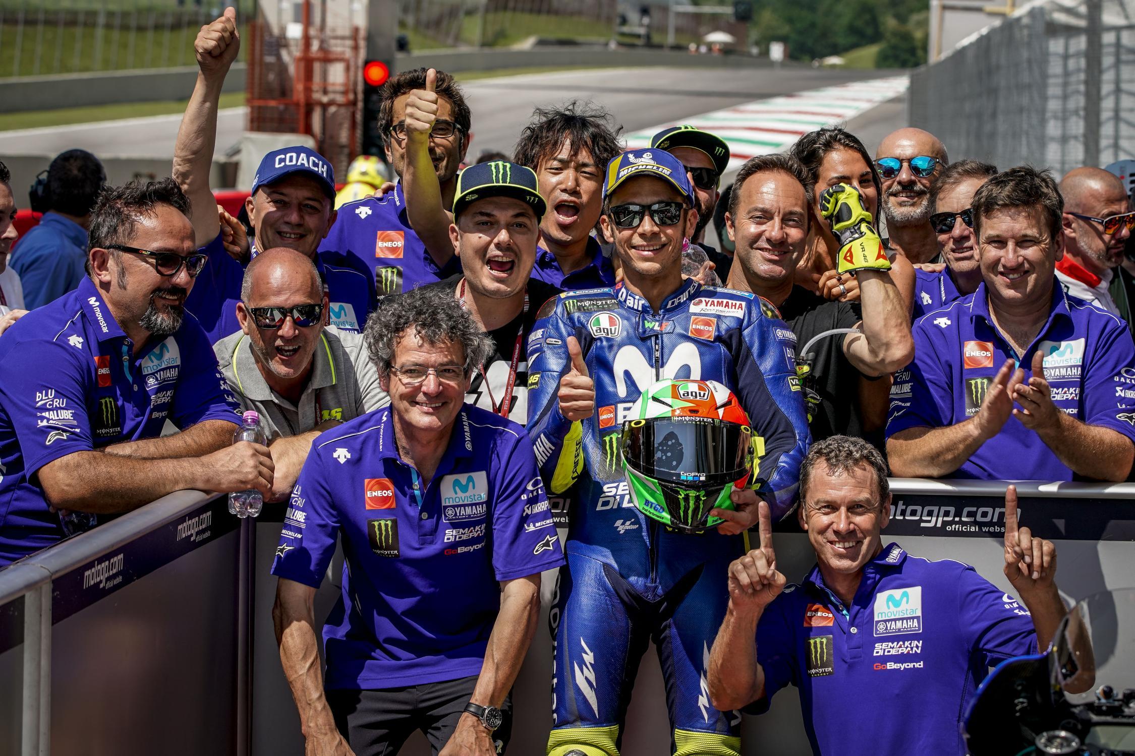 MotoGP2018 Rd.6イタリアムジェロ予選結果|ポールはロッシが獲得!!