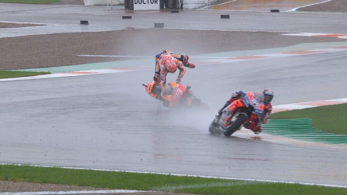 MotoGP2018 Rd.18スペインGPバレンシアレース結果|波乱の大雨レースをドビが制す!