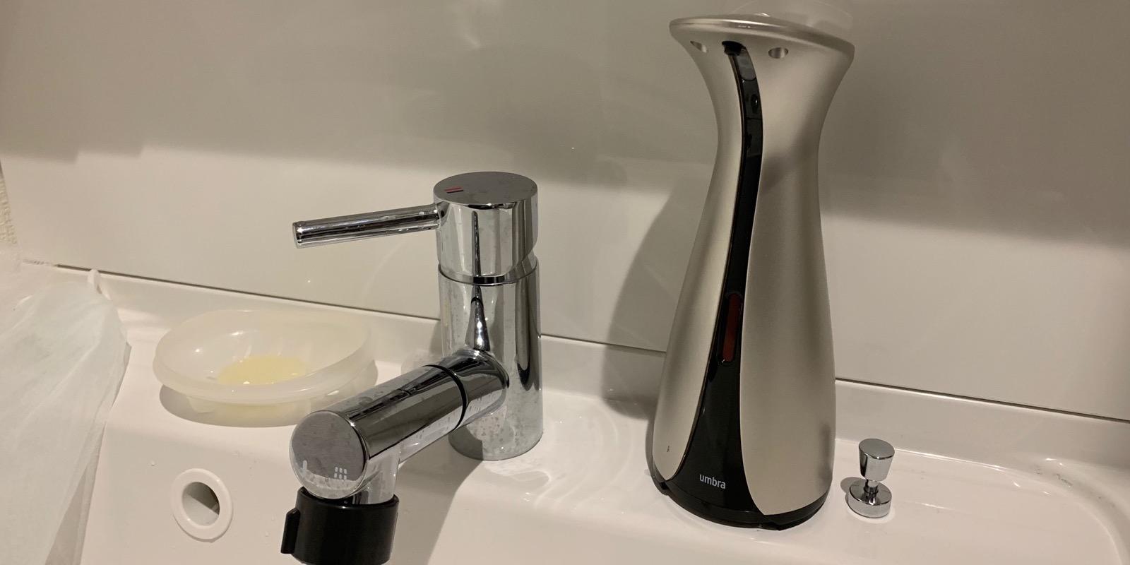 自動ソープディスペンサー買ったら洗面台が汚れなくてメッチャいい!!