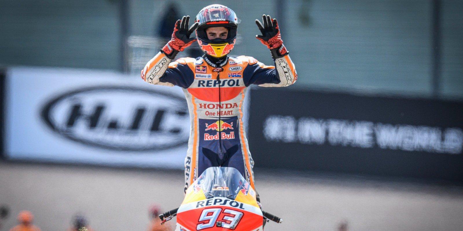 MotoGP2019Rd.9ドイツGPザクセンリンクレース結果|マルケス大記録!!