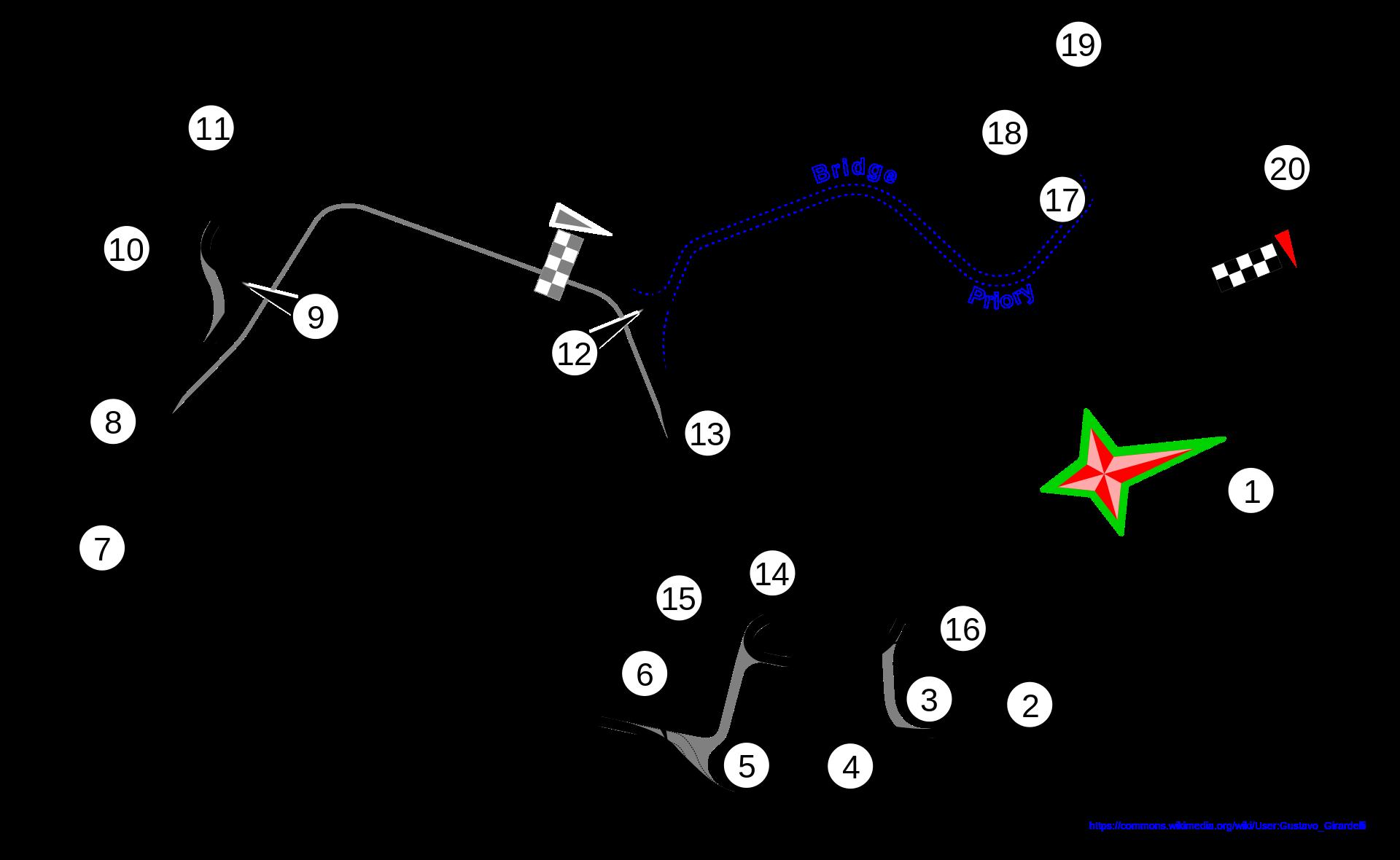 シルバーストーン コースレイアウト図