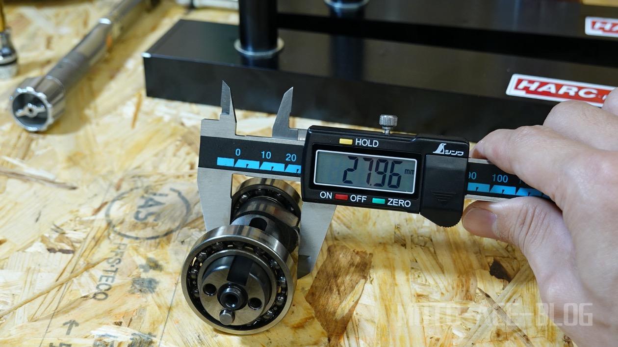 アドレスV125カム山高さ測定